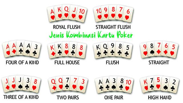 Jenis Kombinasi Kartu Poker
